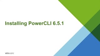 VMware PowerCLI 6.5.1 Installation Walkthrough