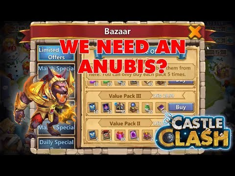 My F2P Account Bought Anubis to Complete Insane Dungeon 7-10 | Castle Clash
