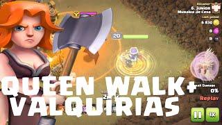 QUEEN WALK + VALQUIRIAS DEVASTADOR CLASH OF CLANS