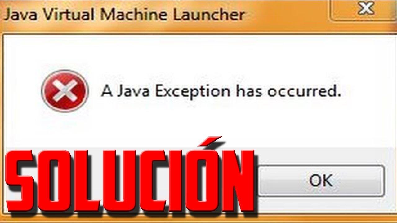 minecraft launcher java exception error