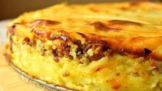 Картофельная запеканка с мясом     Мамины рецепты