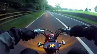 GPS speed test / Lifan 125cc powered Monkey Bike