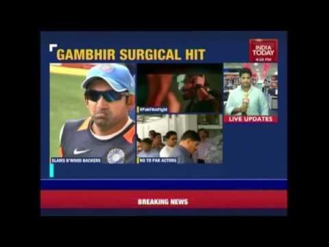 Gautam Gambhir Slams Bollywood Actors On Backing Pak Actors