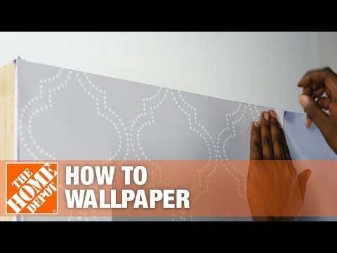 How to Hang Peel-and-Stick Wallpaper | The Home Depot