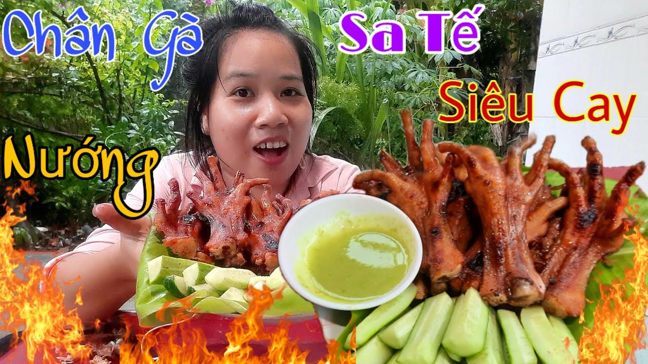 Chân Gà Nướng Sa Tế Siêu Cay Cơn Mưa Tầm Tả| Hân HânTv, Grilled Chicken Feet With Super Spicy Sauce