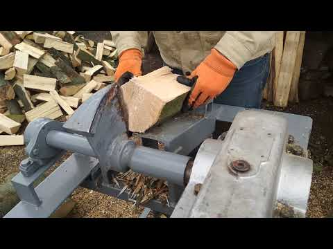 Дровокол редукторный 220 вольт.Wood splitter.