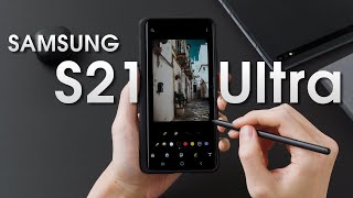 Samsung Galaxy S21 Ultra - Hands-On, Including S Pen & Case.