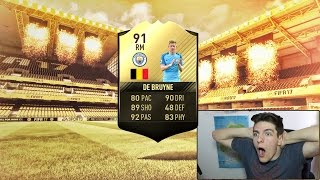 OMG 91 TIF INFORM KEVIN DE BRUYNE IN PACKS! 😱 - (FIFA 17 PACK OPENING)