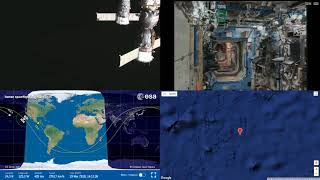 Sunrise Over North America - NASA/ESA ISS Space Station Livestream With Map - 41 - 2018-03-19