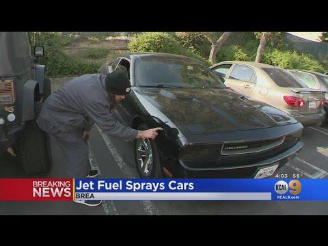 Dumped Jet Fuel Sprays Cars In Brea