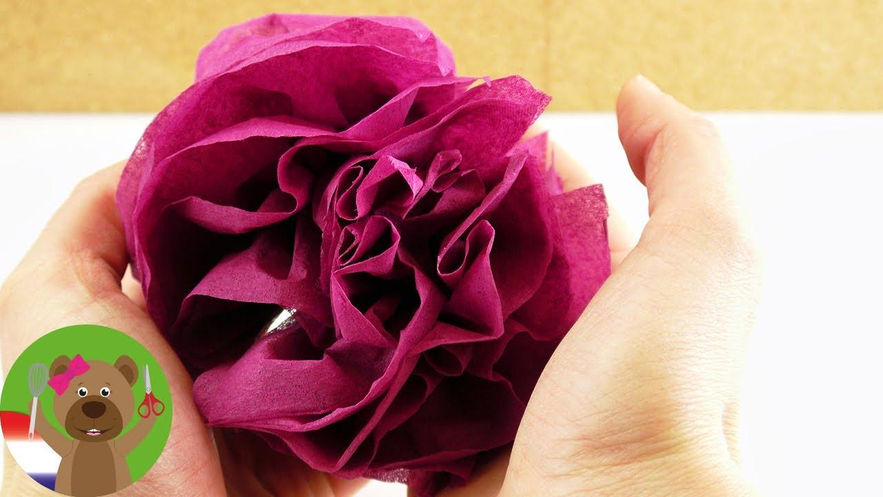 Versiering van servetten makkelijk zelf maken bloemen for Ballonnen versiering zelf maken