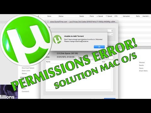 HOW T0 - uTorrent - Unable to Add Torrent Message - SOLUTION - Mac OS - chefhawk 2107 HD