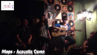 Maps - Maroon 5 Acoustic cover by beautiful girl in the coffee room