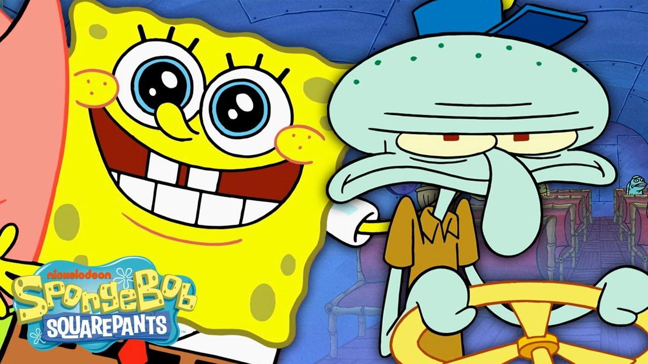 "Squidward Gets a New Job! 🚌 New SpongeBob Episode ""Squid's on a Bus"""