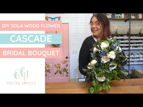 Simple Cascade Bouquet- how to make it quickly using sola wood flowers