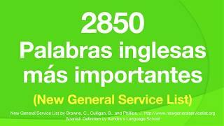 2850 Palabras inglesas más importantes (New General Service List)  NGSL