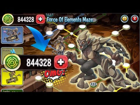●Monster Legends - Force Of Elements Maze Island Review tutorial Unlock All
