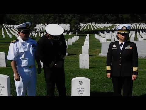 Vist Vietnamese American graves of U.S. Marine Lance Corporal  Alan Dinh Lam