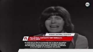 MUERE EL CANTANTE TONY RONALD A LOS 72 AÑOS