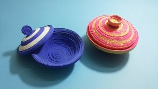 How to make coiled paper bowl