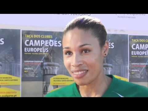 Atletismo :: Naíde Gomes, vencedora do salto em comprimento da Taça dos Campeões em Pista, disputado em 2011