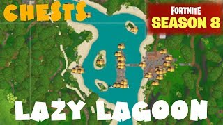 ALL Lazy Lagoon Chest Locations Guide - Fortnite Battle Royale Season 8