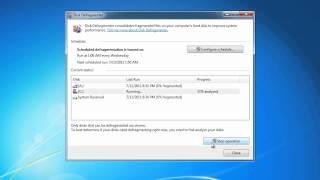 MCTS 70-680: Disk Defragmenter in Windows 7