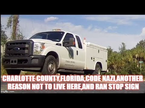 charlotte county,florida,code nazi,another reason not to live here,and ran stop sign