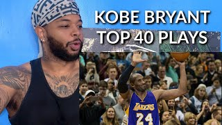 Kobe Bryant's TOP 40 Plays of His NBA Career   RIP to the GOAT  Reaction