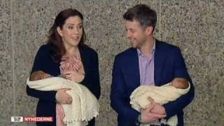 Frederik, Mary & their newborn twins leave the hospital - 2 (2011) Thumbnail