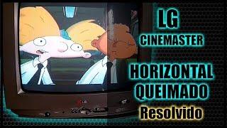 [REPARO] TV LG 20K40 horizontal queimado
