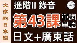 【大家的日本語】單詞/單字/単語 進階 第二冊 錄音 #43   學日文 MP3   廣東話   香港人 SAAII