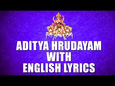 lord-surya-narayana-songs---aditya-hrudayam---english-lyrics
