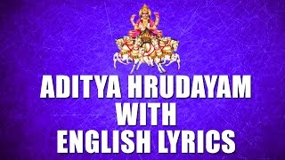 Lord Surya Narayana Songs - Aditya Hrudayam - English Lyrics