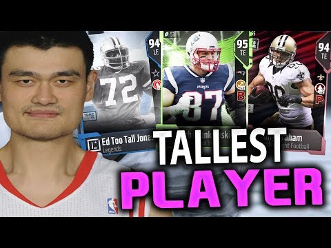 THE TALLEST PLAYER DRAFT!! MADDEN 18 DRAFT CHAMPIONS GAMEPLAY