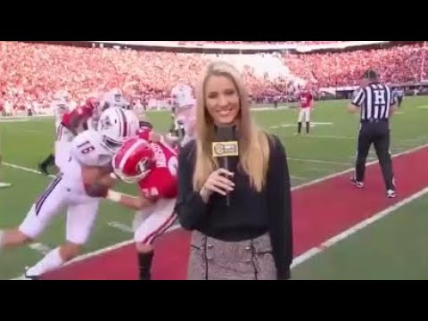 Download NFL Reporters Getting Hit Compilation