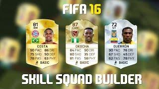 FIFA 16 Skill Squad Builder