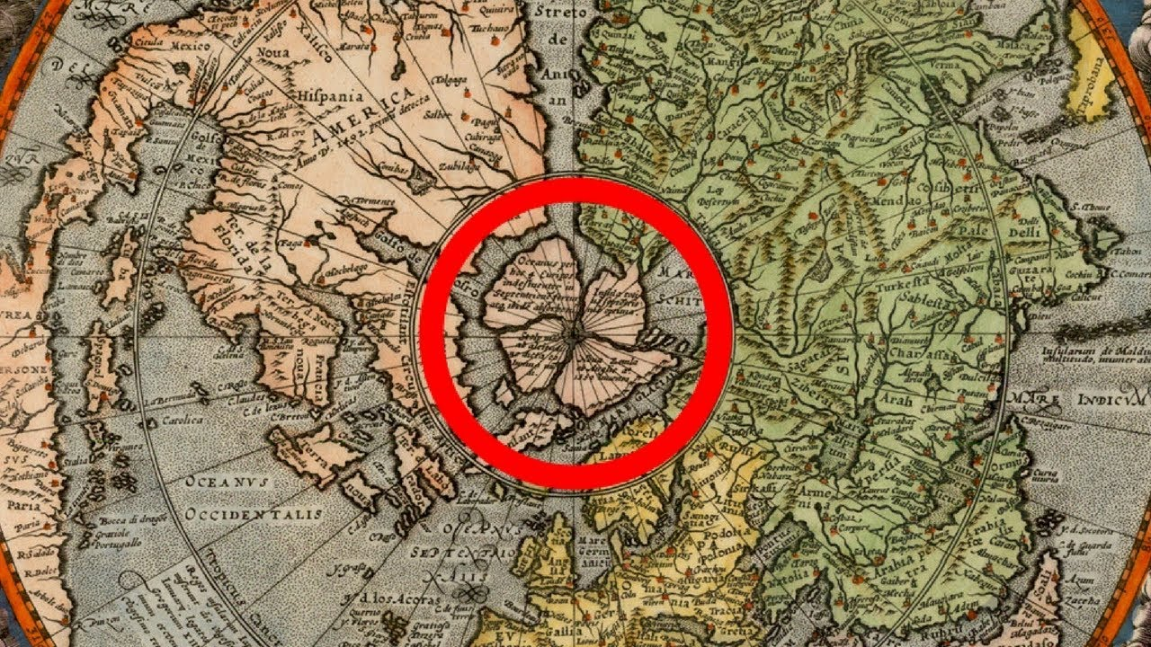 Flat Earth S Hidden Arctic Land Proof In Old World Maps Youtube