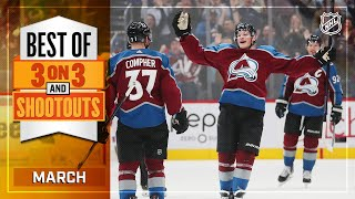 Best 3-on-3 Overtime and Shootout Moments from March | NHL