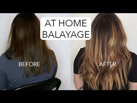 HOW TO DIY BALAYAGE , DARK HAIR