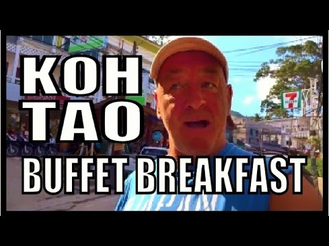Koh Tao Sairee Beach Thailand  Buffet breakfast. Nice open air Restaurant.
