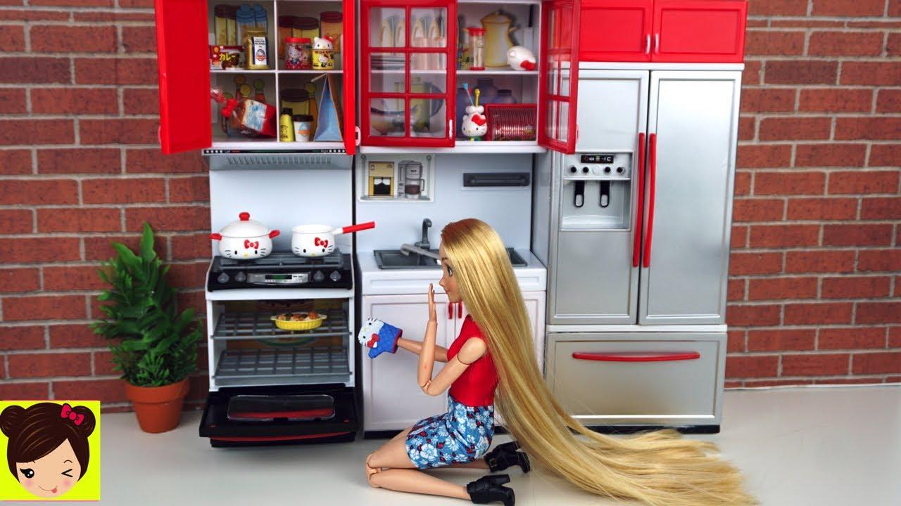 Princesa rapunzel cocina de juguete hello kitty accesorios for Cocinas armables