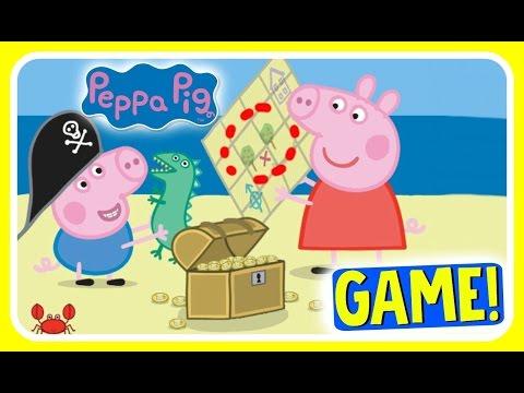 Peppa Pig Treasure Hunt GAME!  Peppa Pig & George Pig Find Treasures!  Nick Jr Fun Games YouTube Vid