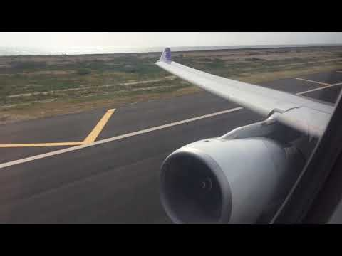 Hawaiian Airlines A330-200 takeoff Oahu