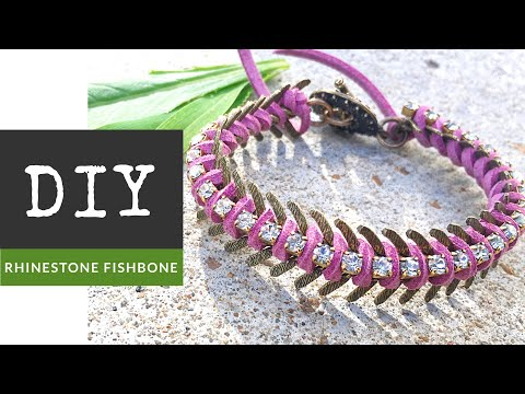 How To Make A Rhinestone Fishbone Chain Bracelet With The Bead Place