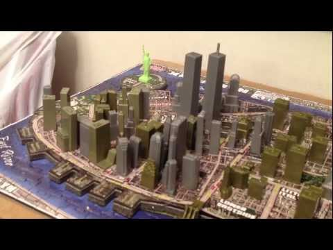 4D CITYSCAPE NEW YORK CITY with the World Trade Center twin towers