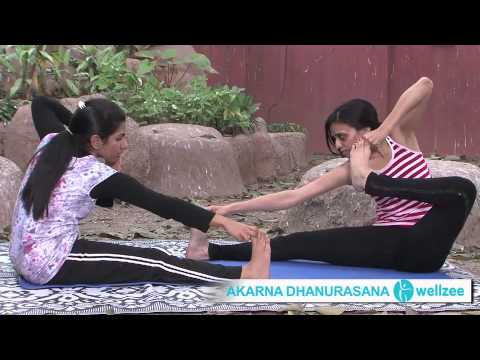 akarna dhanurasana  bow pose english online yoga