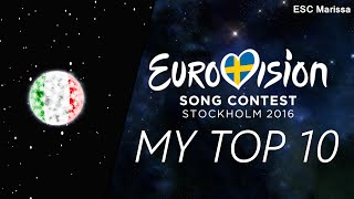 Eurovision 2016 l MY TOP 10 l So far (14/02/16)(Welcome to my Top 10 of Eurovision 2016 so far! :) ║ ALL SONGS ║ Albania: Eneda Tarifa - Përrallë Austria: Zoë - Loin d'ici Belarus: Ivan - Help you fly ..., 2016-02-14T15:43:23.000Z)