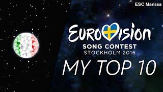 Eurovision 2016 l MY TOP 10 l So far (14/02/16)(Welcome to my Top 10 of Eurovision 2016 so far! :) ║ ALL SONGS ║ Albania: Eneda Tarifa - Përrallë Austria: Zoë - Loin d'ici Belarus: Ivan - Help you fly ..., 2016-02-14T15:43:23.000Z)