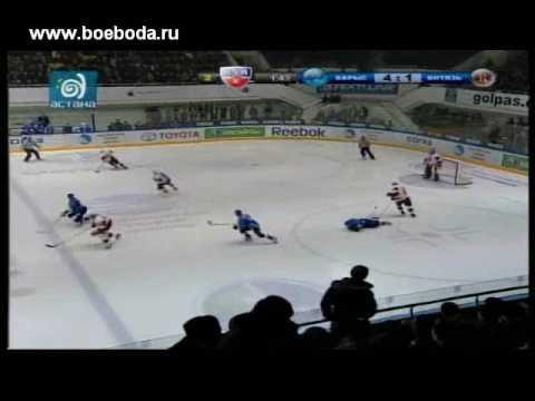 Hockey Fights KHL Barys Astana vs Vityaz Chekhov
